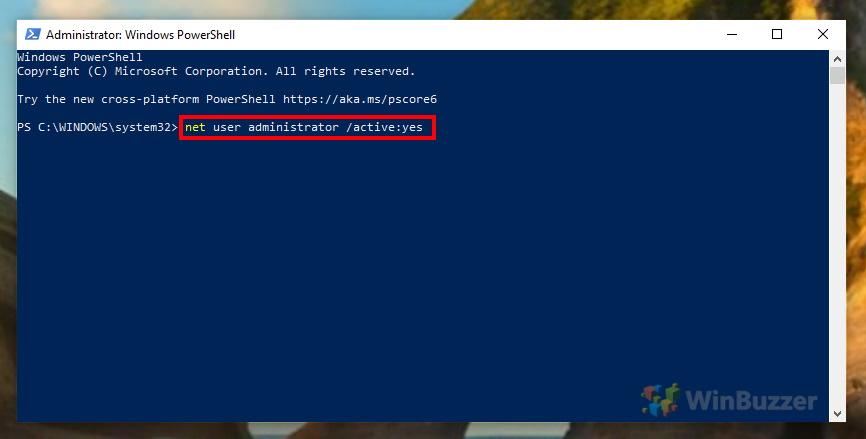 Windows 10 - PowerShell - Administrator