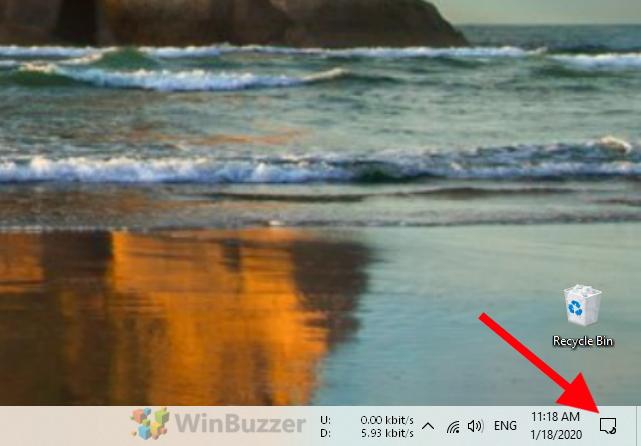 Windows 10 - Open Action Center