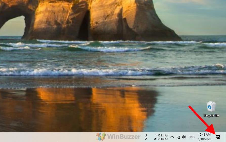 Windows - Open Action Center