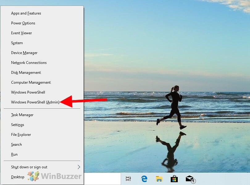 Windows 10 - Run Windows PowerShell as Admin