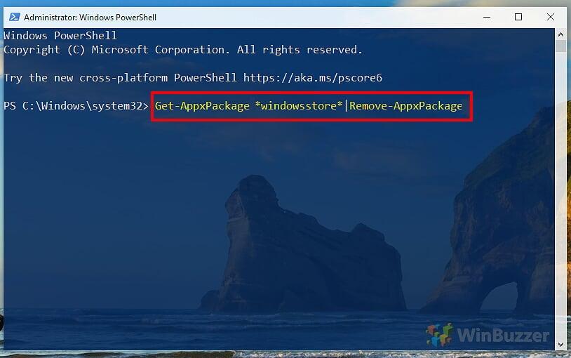 Windows-10-PowerShell-Uninstall-Microsoft-Store-correct