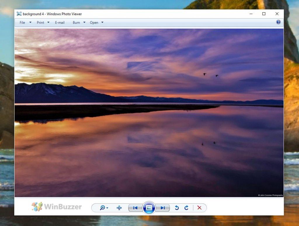 Windows 10 - Old photo viewer