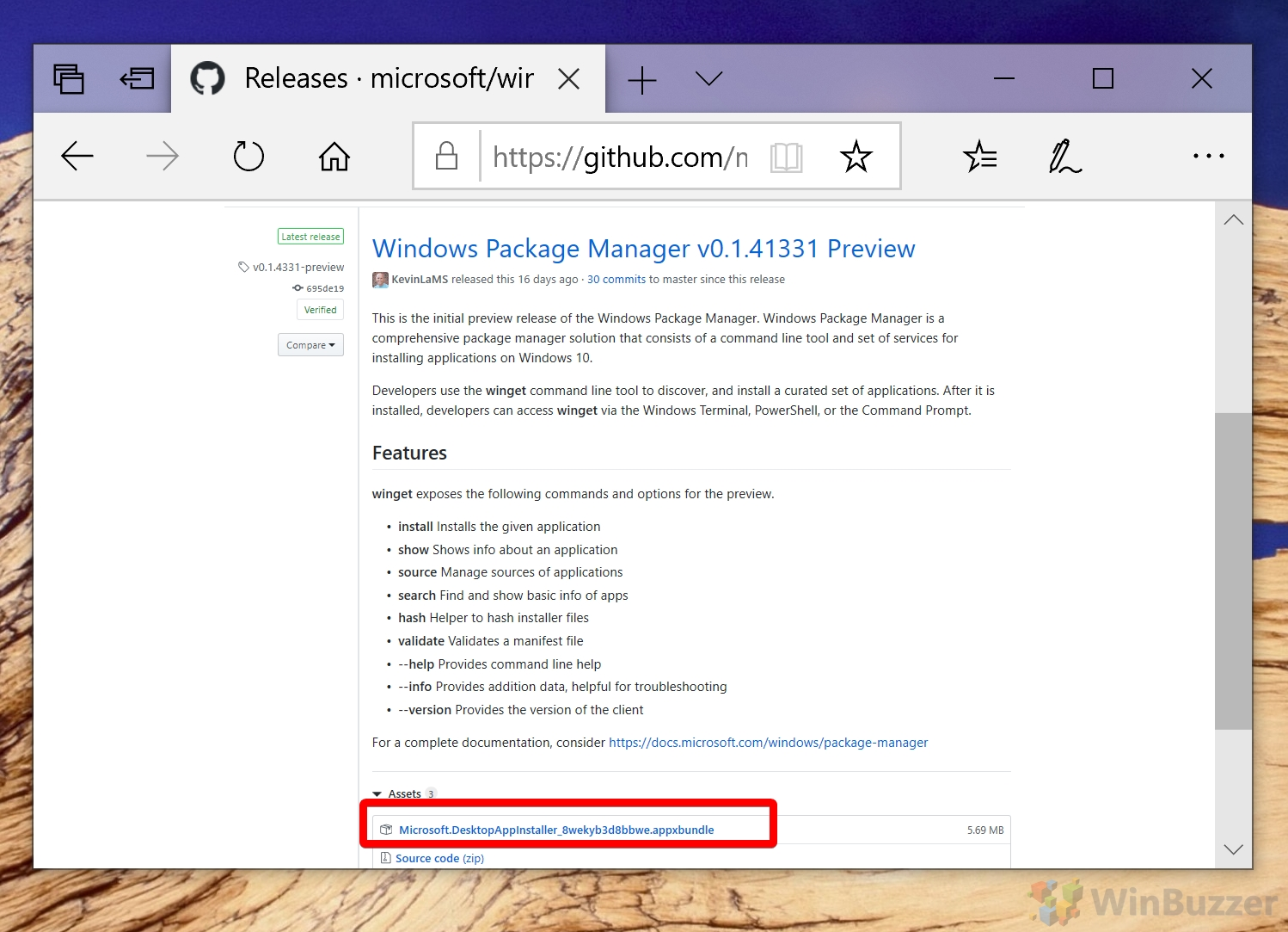 GitHub Windows Package Manager Preview