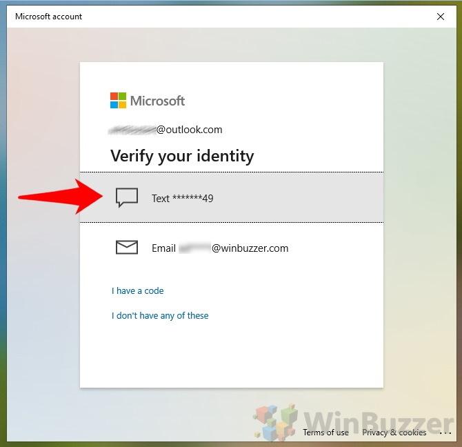 Windows 10 - Login - I forgot my PIN - Verify your identity