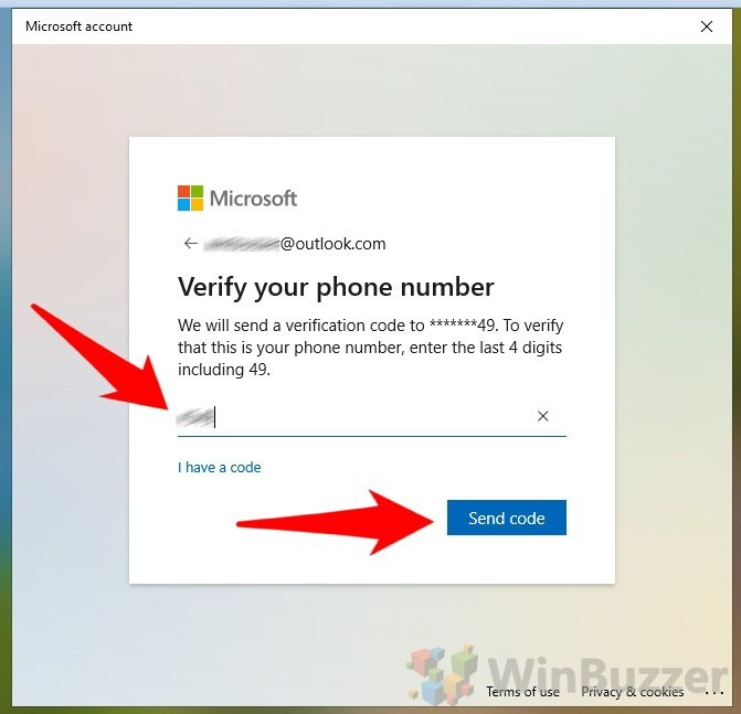 Windows 10 - Login - I forgot my PIN - Verify your phone number