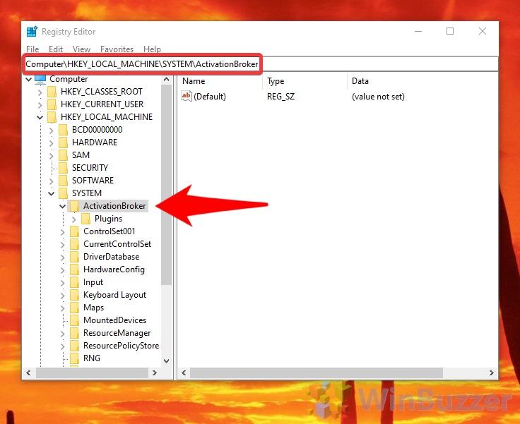 Windows 10 - Registry Editor - Navigation