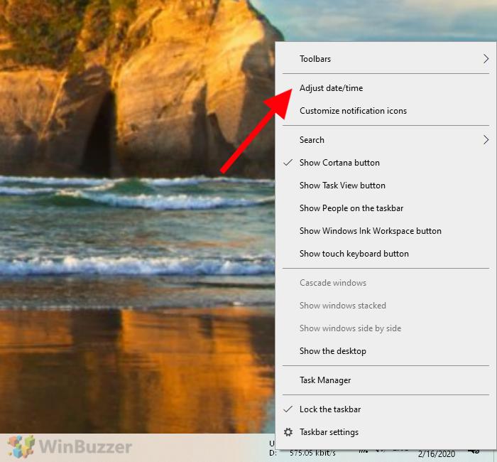 Windows 10 - Taskbar - Quick Access Menu