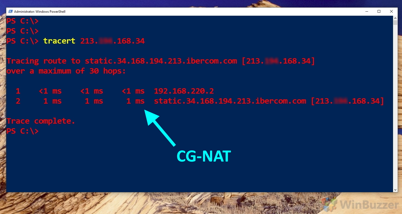 Windows 10 - PowerShell - Traceroute - CG-NAT - Kopie