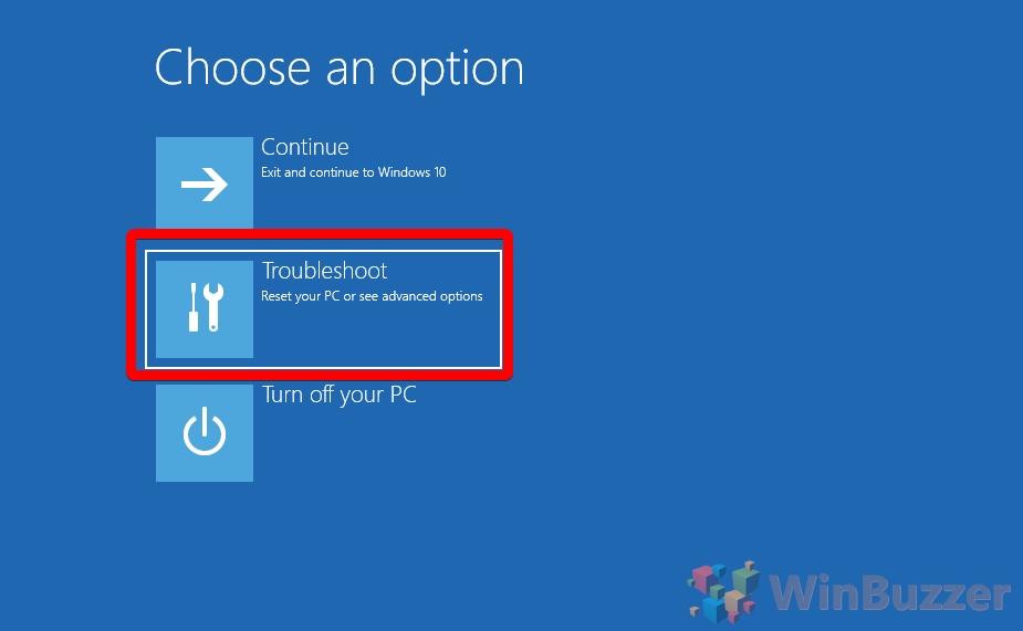 Windows 10 - Advanced Startup