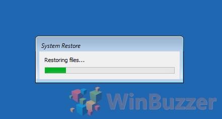 Windows 10 - Advanced Startup - System restore - Restoring files