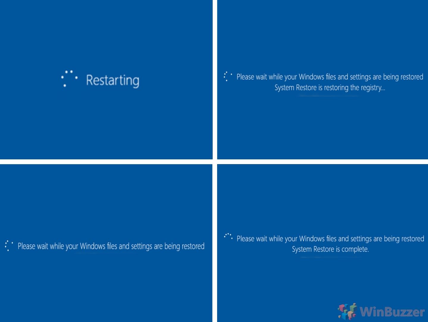 Windows 10 - Advanced Startup - System restore - System Restore process (1)