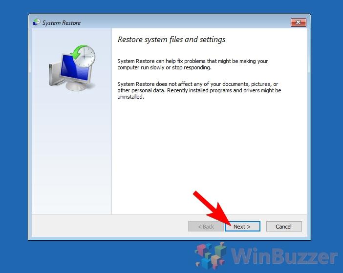 Windows 10 - Advanced Startup - System Restore