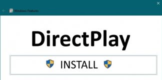 Windows 10 How to activate DirectPlay for older Games