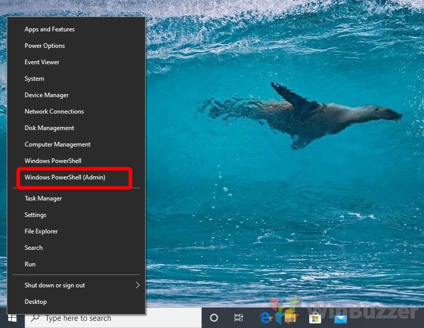 Windows 10 - Open Powershell as admin