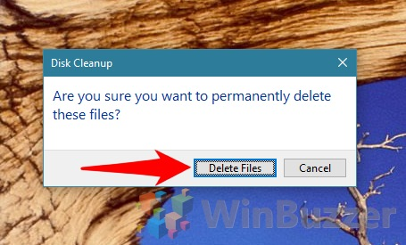 Windows 10 - Disk Cleanup - Permanently Delete Confirmation