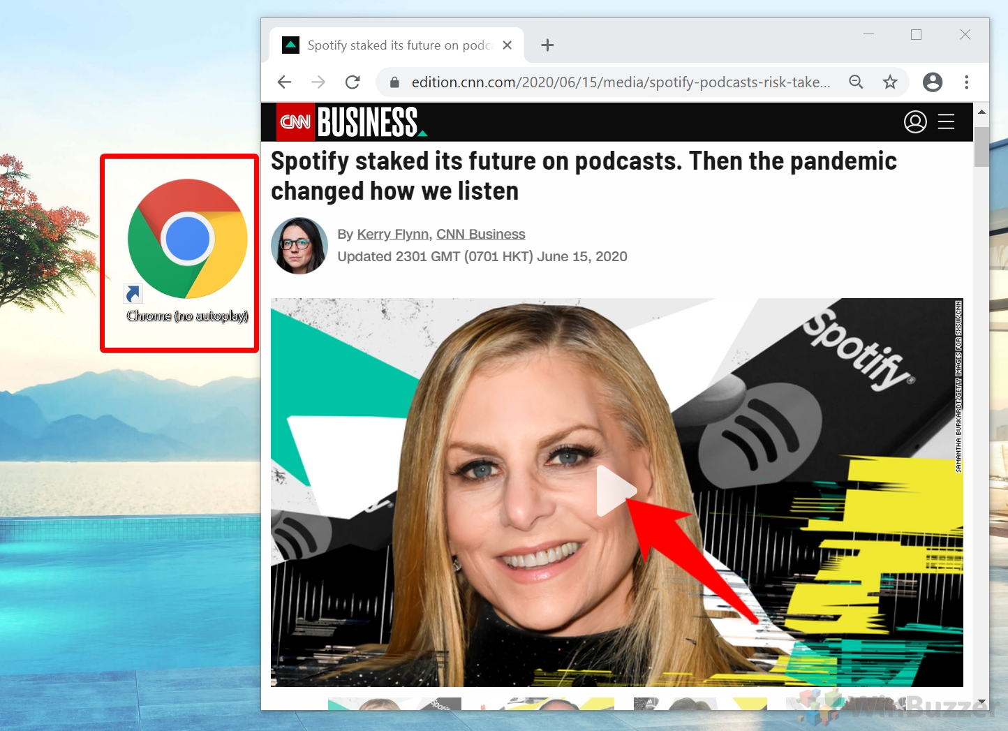 Google Chrome - CNN without autoplay enabled
