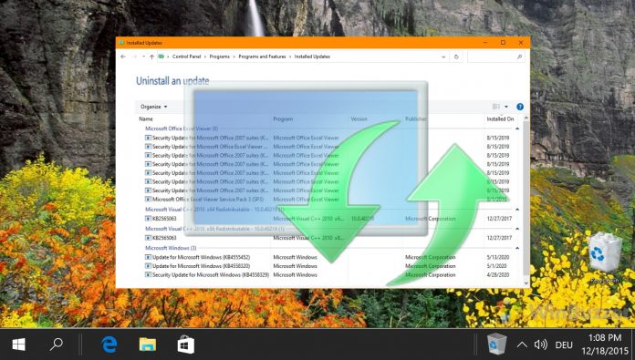How to View Windows Update History in Windows 10
