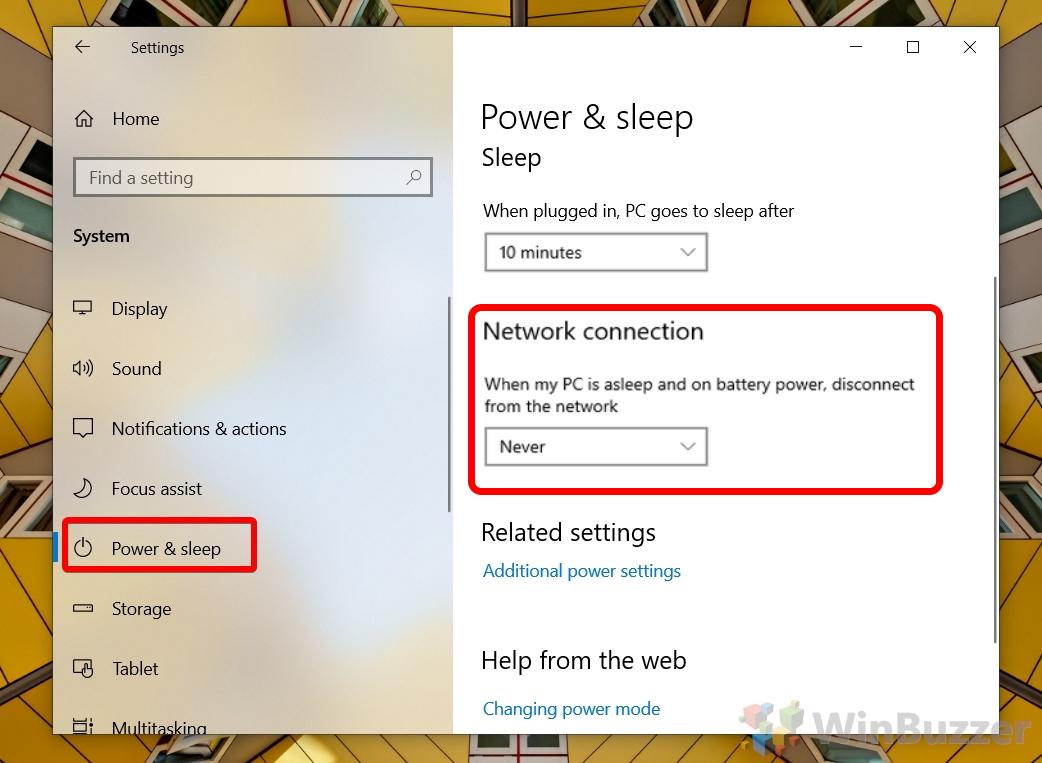 Windows 10 - Settings - Power and Sleep