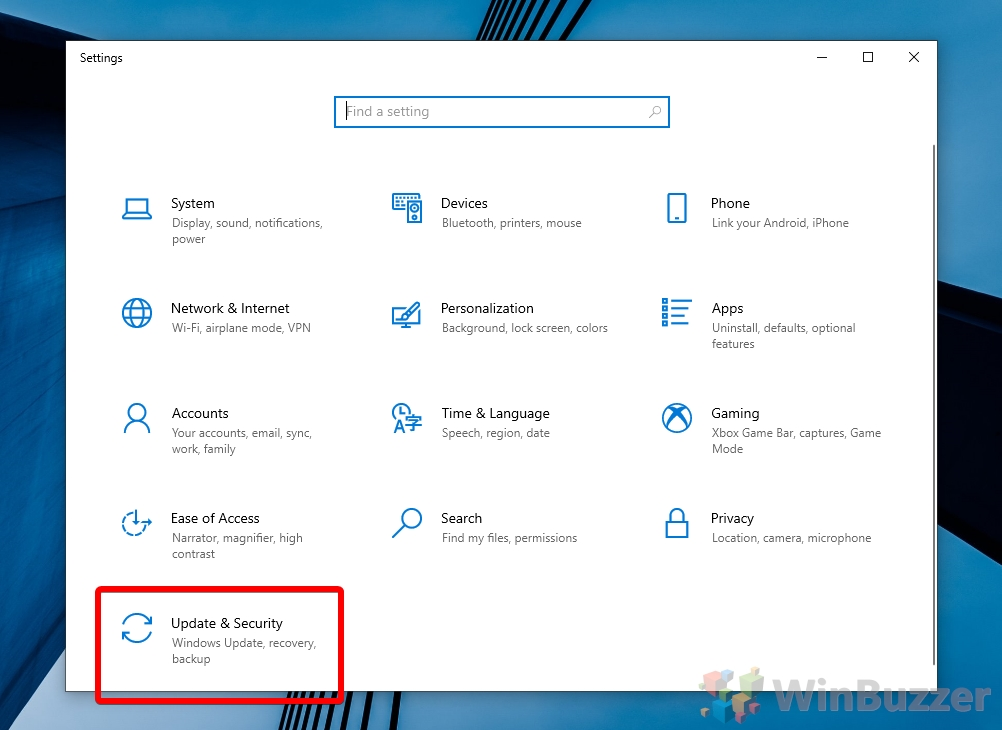 Windows 10 - Settings