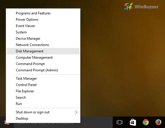 Start - Disk Management