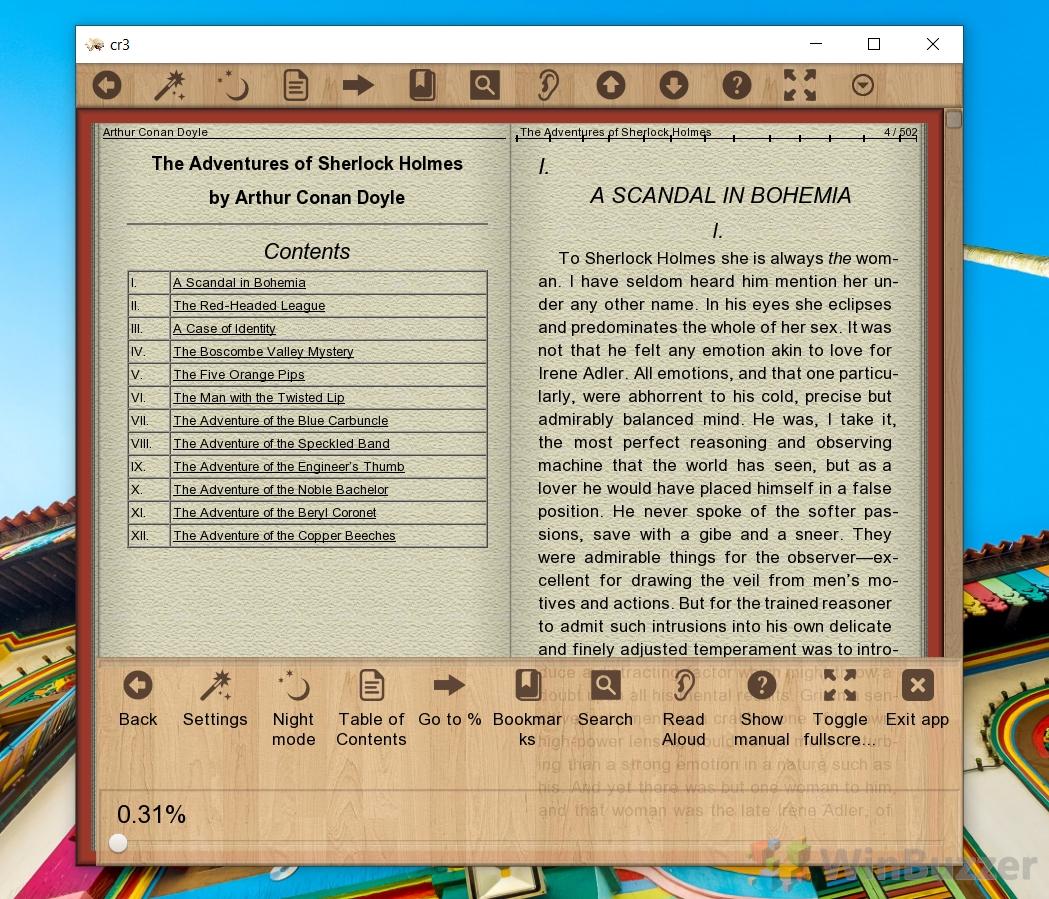 Windows 10 - Cool Reader - EPUB eBook