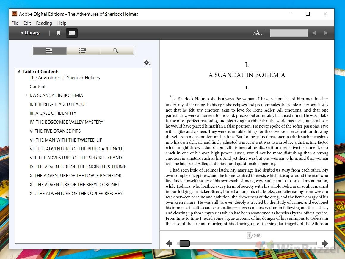 Adobe Digital Editions - EPUB eBook