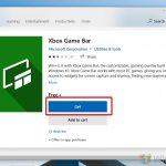 Windows 10 - Microsoft Store - install Xbox Game Bar