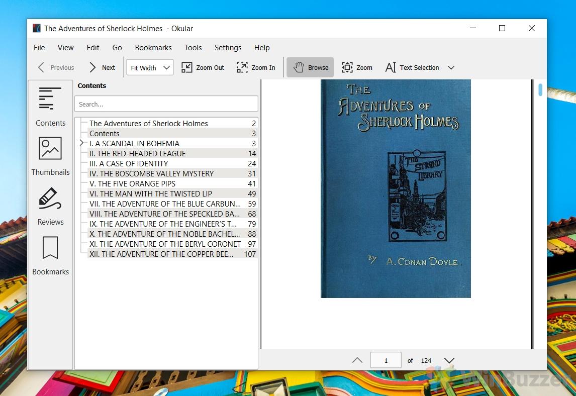 Windows 10 - Okular - EPUB eBook