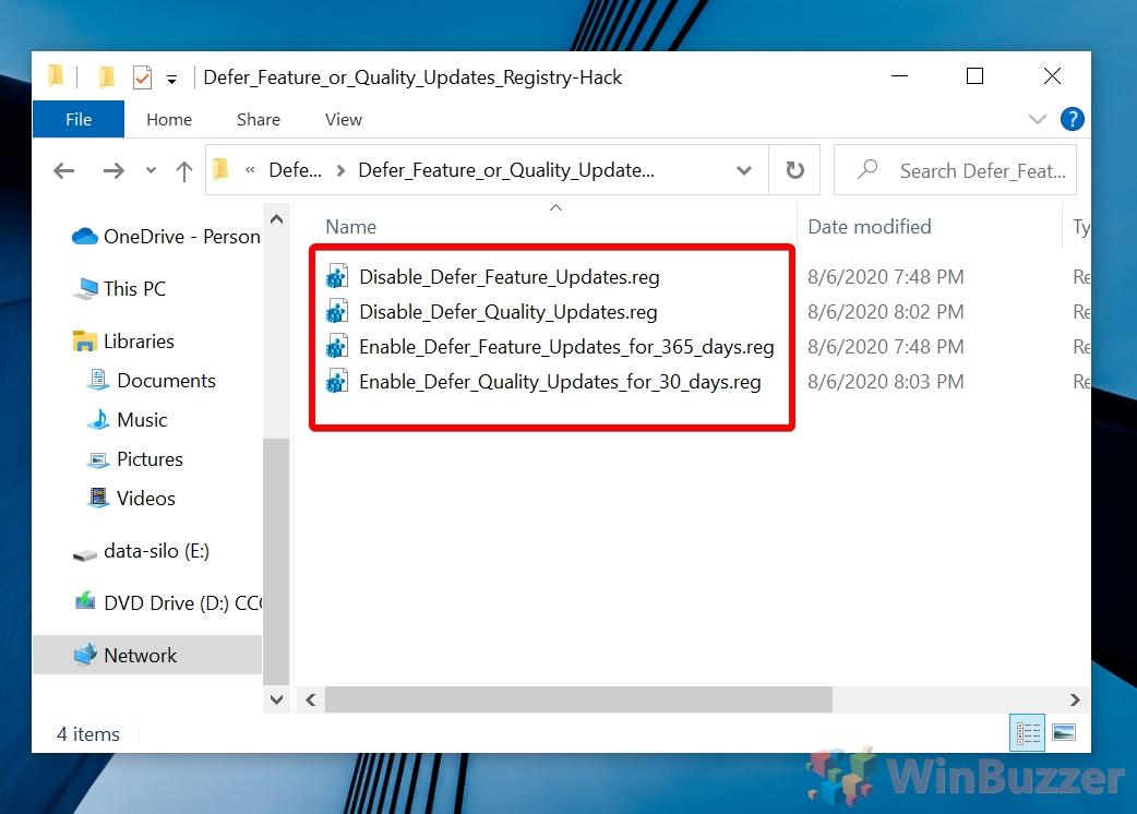 Windows 10 - Open Desired Registry Hack
