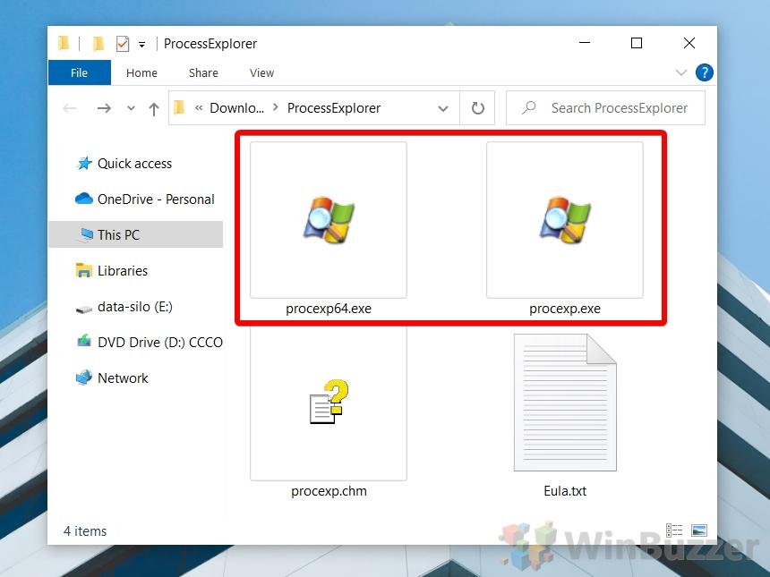 Windows 10 - Launch Process Explorer