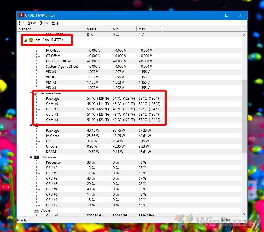 CPUID - HWMonitor - CPU Temperature