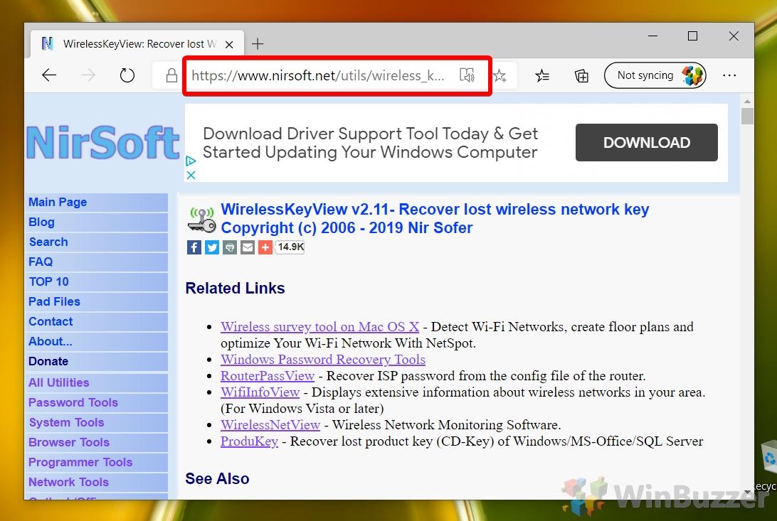 Webbrowser - Nirsoft Website