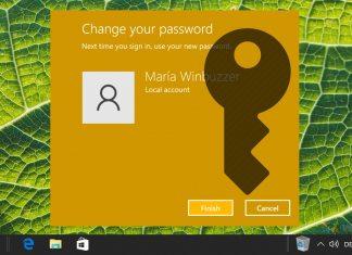 How to Change Account Password in Windows 10