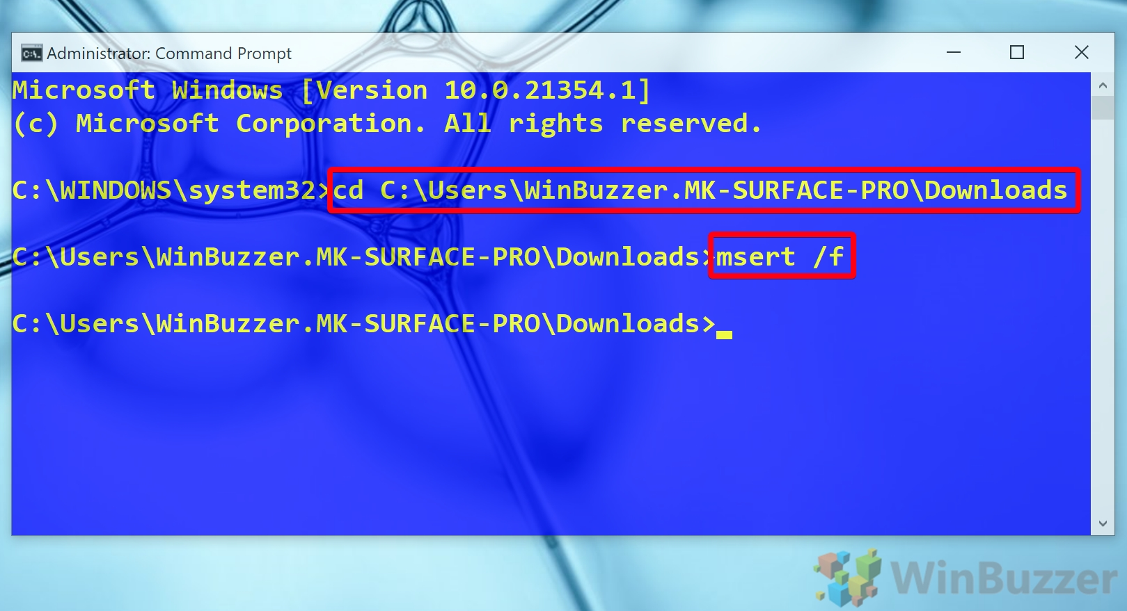 Windows 10 - Elevated Command Prompt - Type the Commands