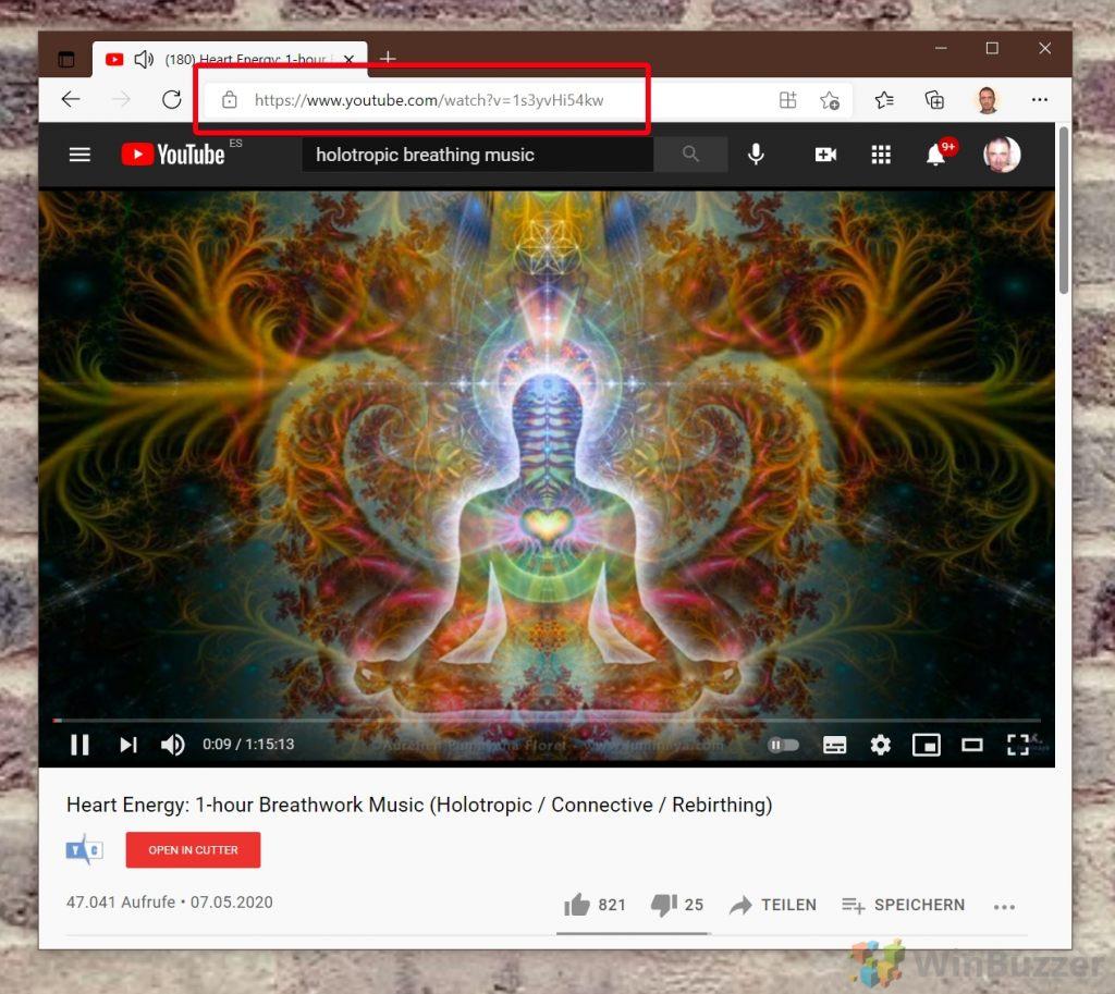 """YouTube - Copier l'URL de la vidéo"""" width=""""696"""" height=""""621"""" srcset=""""https://winbuzzer.com/wp-content/uploads/2021/06/01-YouTube-Copy-video-URL-1024x913.jpg 1024w, https://winbuzzer.com/wp-content/uploads/2021/06/01-YouTube-Copy-video-URL-300x268.jpg 300w, https://winbuzzer.com/wp-content/uploads/2021 /06/01-YouTube-Copy-video-URL-768x685.jpg 768w, https://winbuzzer.com/wp-content/uploads/2021/06/01-YouTube-Copy-video-URL-150x134.jpg 150w , https://winbuzzer.com/wp-content/uploads/2021/06/01-YouTube-Copy-video-URL-696x621.jpg 696w, https://winbuzzer.com/wp-content/uploads/2021/ 06/01-YouTube-Copy-video-URL-1068x952.jpg 1068w, https://winbuzzer.com/wp-content/uploads/2021/06/01-YouTube-Copy-video-URL-471x420.jpg 471w, https://winbuzzer.com/wp-content/uploads/2021/06/01-YouTube-Copy-video-URL.jpg 1266w"""" tailles=""""(max-width: 696px) 100vw, 696px"""