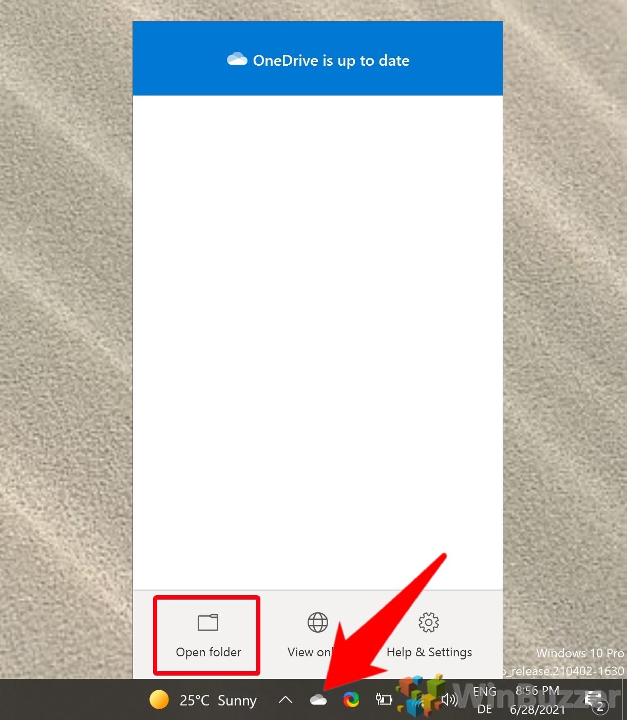 Windows 10 - Open Onedrive Folder