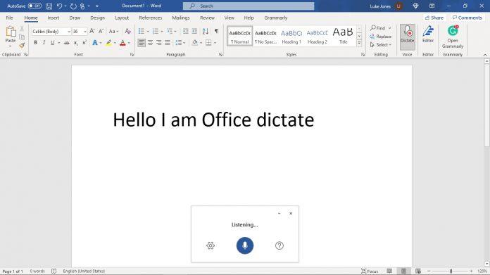 Microsoft-Office-Dictate-Demo-Word-WinBuzzer-Own