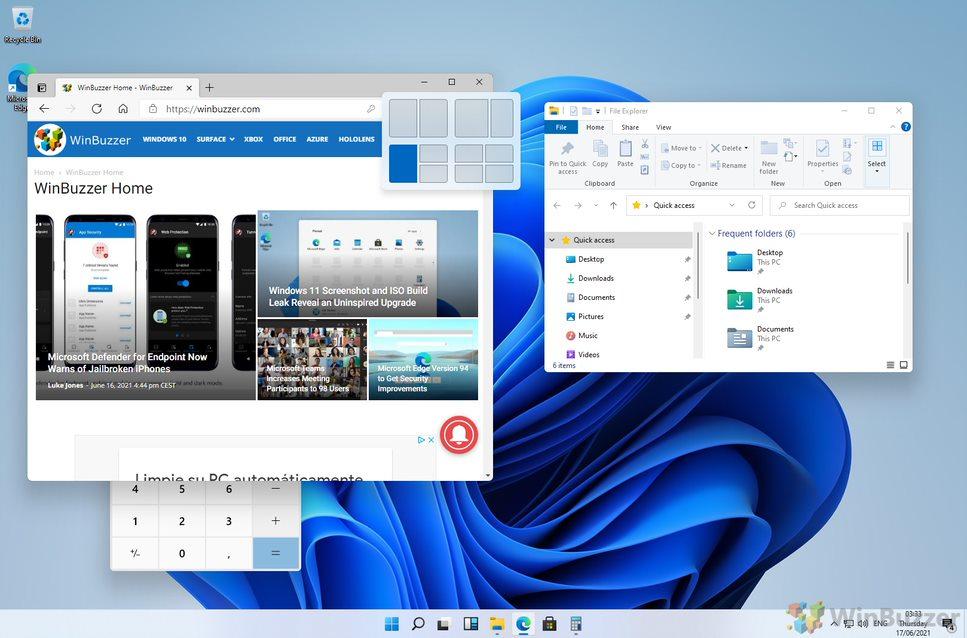 Windows-11-Multiple-Windows-Fancy-Zones-WinBuzzer