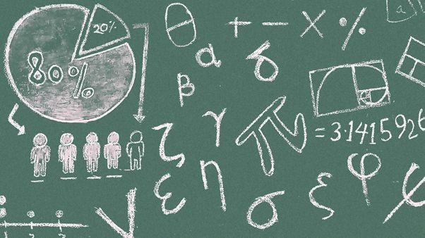 symbols writing on blackboard - via pexels