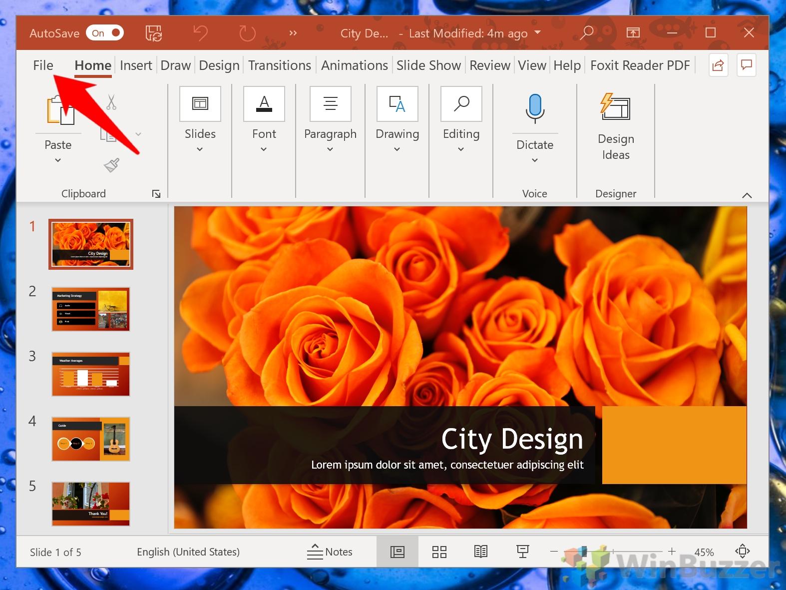 Windows 10 - Power Point - Open File