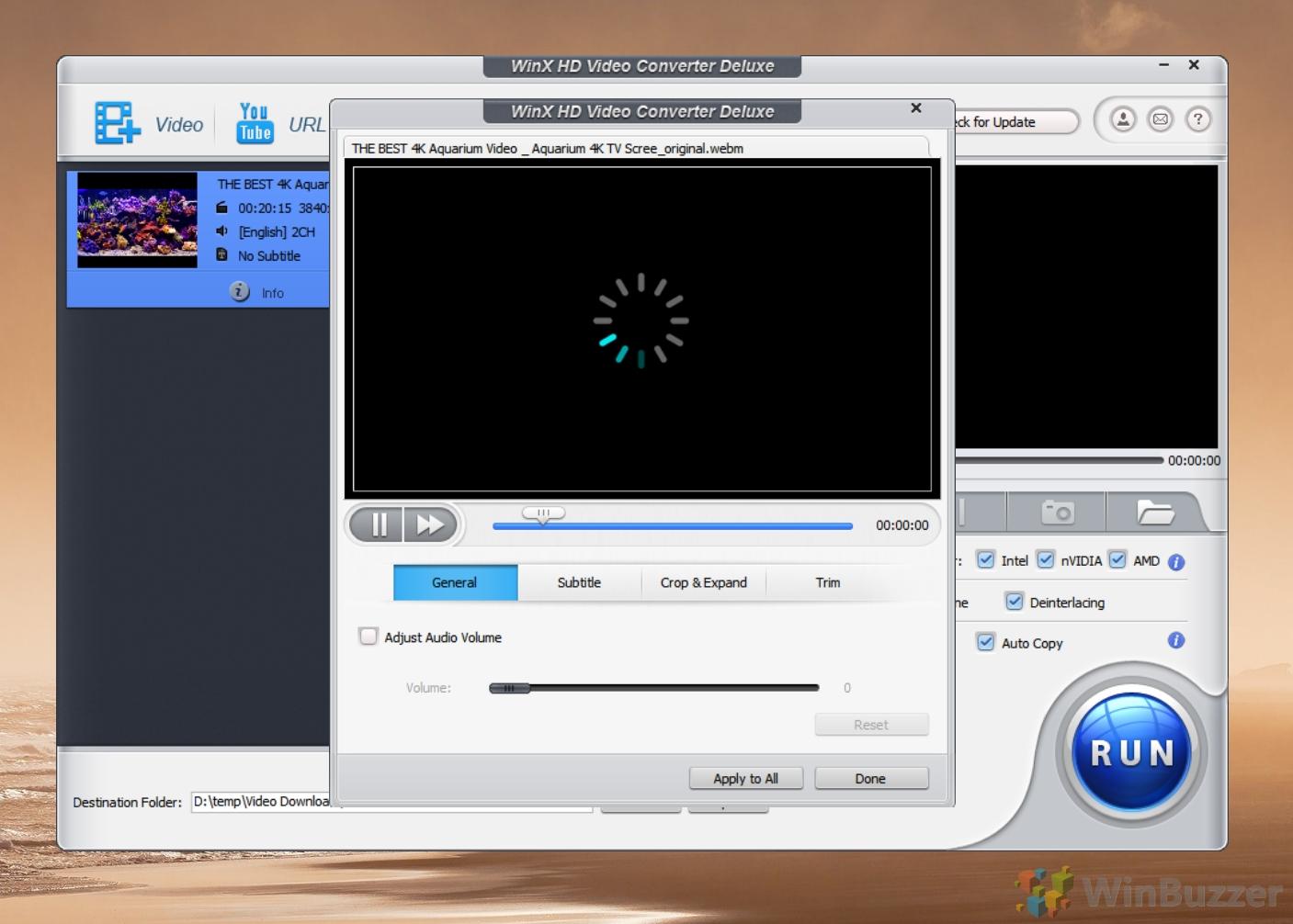 WinX Video Converter - Editor