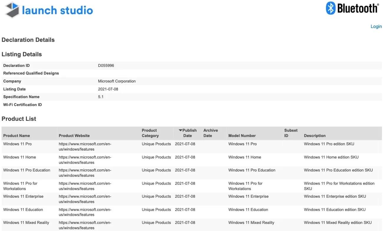 Windows-11-SKU-List-Bluetooth