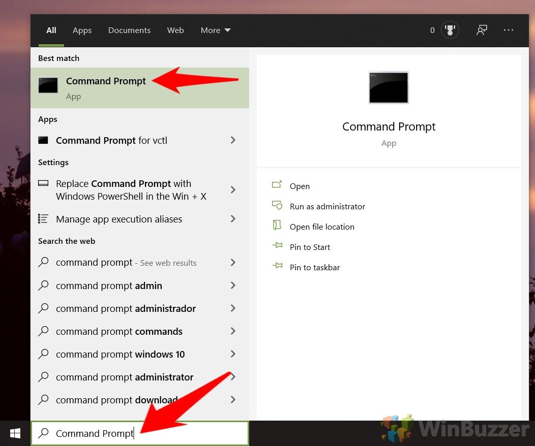 Windows 10 - Open Command Prompt