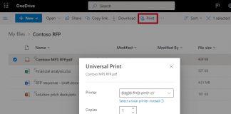 Universal-Print-OneDrive-Example-Microsoft