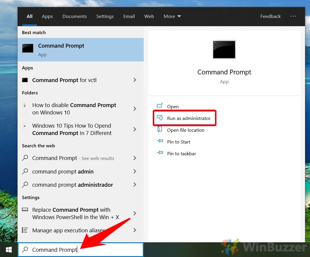 Windowa 10 - Open Elevated Command Prompt
