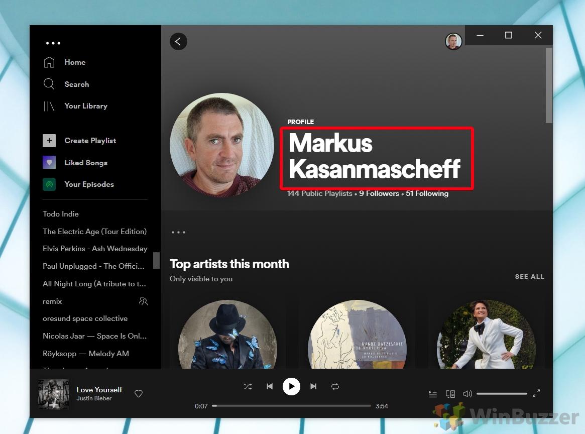 Spotify - Profile
