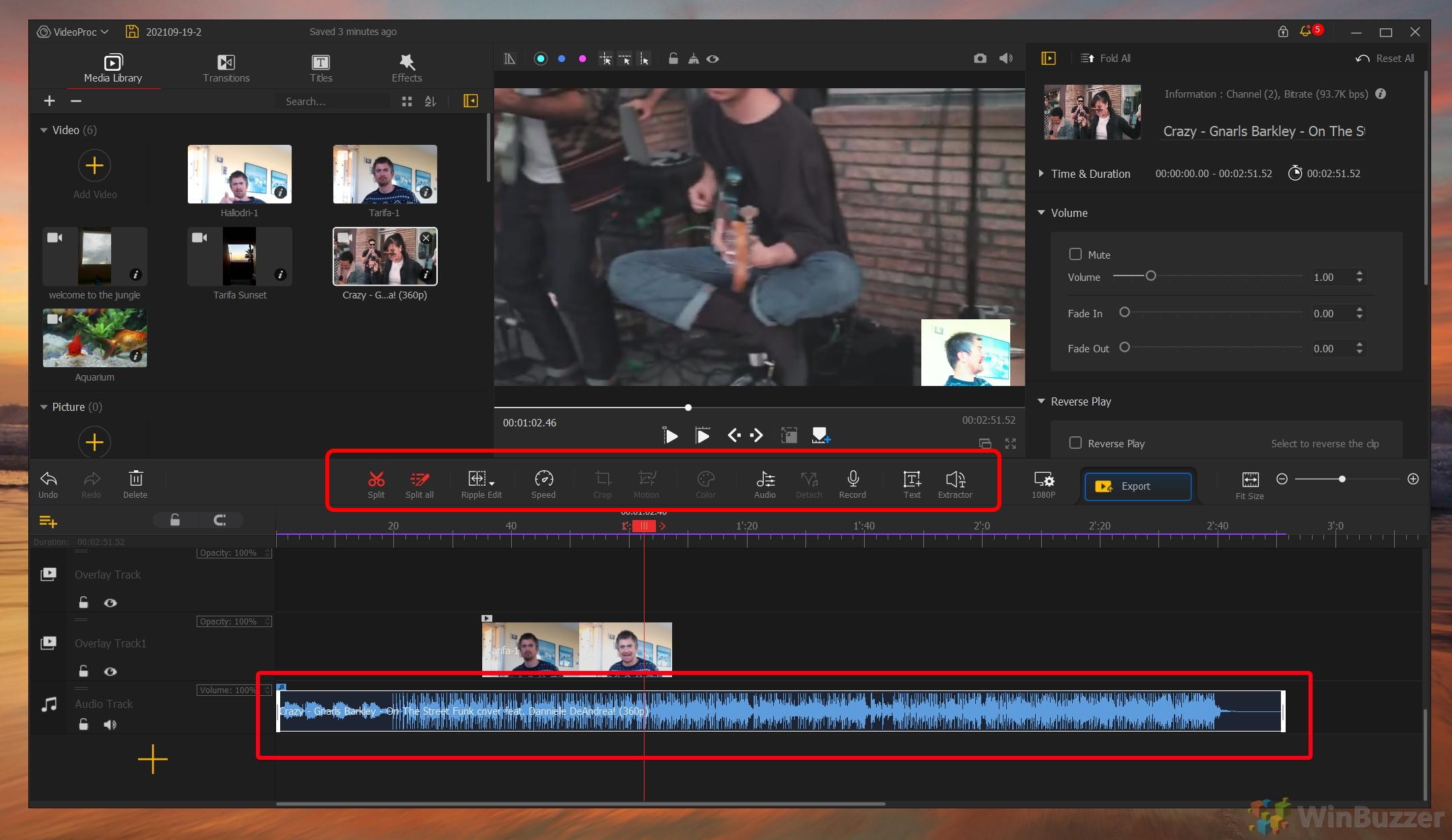 VideoProc Vlogger - Audio Track