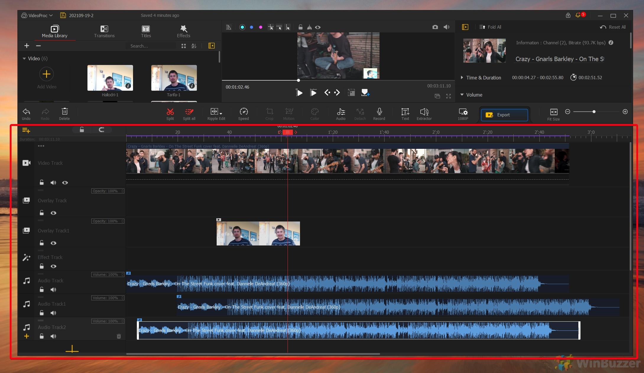 VideoProc Vlogger - Multiple Audio Tracks