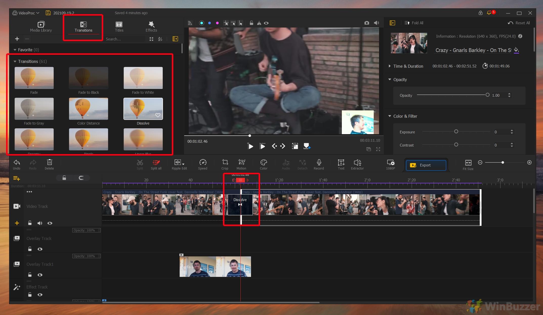 VideoProc Vlogger - Transitions