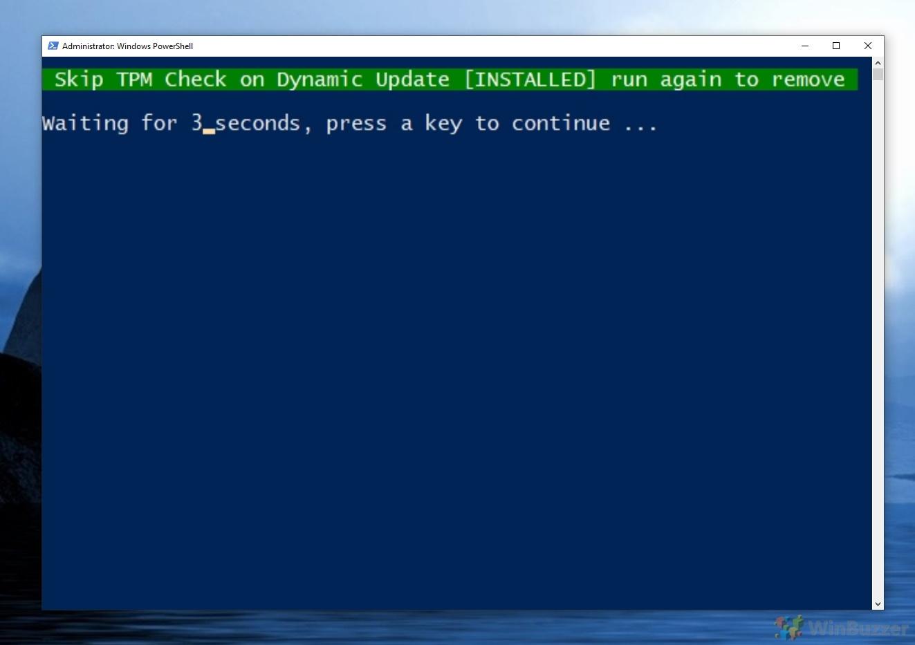 Skip TPM Check on Dynamic Update [Installed]